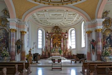Altar in der Dreifaltigkeitskirche auf dem Dreifaltigkeitsber,  Schwäbische Alb Wall mural
