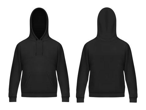 Isolated 3d men hoody or realistic man hoodie
