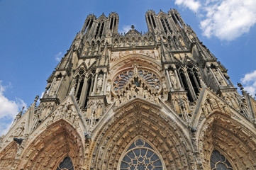 Fototapeta Reims, la cattedrale di Notre-Dame - Francia obraz