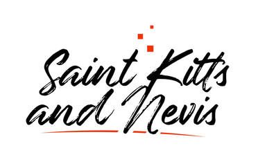 Saint Kitts and Nevis country typography word text for logo icon design