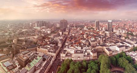 Foto op Canvas Brussel Aerial view of central Brussels, Belgium