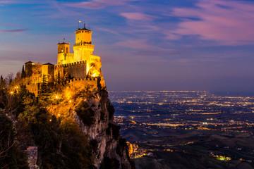 Castello di San Marino al Tramonto Wall mural