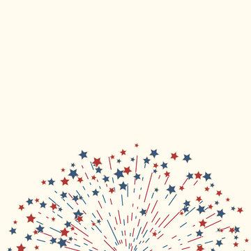 American fireworks patriotic background