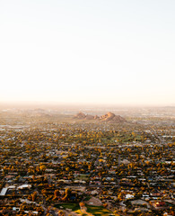 city in the desert sunrise