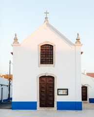 Portuguese church at sunset