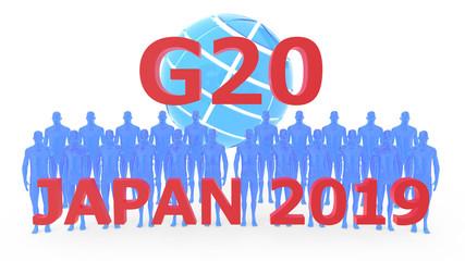 G20 2019 japan 3DCG rendering