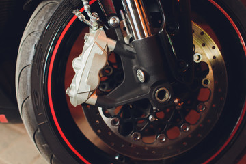 This is the image of a motorcycle brake disc, brake system.