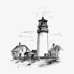 Lighthouse by the coast