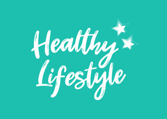 Vector Illustration of Healthy Lifestyle Banner.