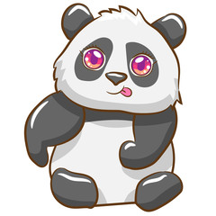 Keuken foto achterwand Beren panda vector graphic clipart