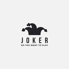 minimalist Joker / jester hat logo icon