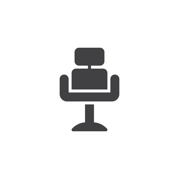 Barber chair vector icon. filled flat sign for mobile concept and web design. barbershop armchair glyph icon. Symbol, logo illustration. Pixel perfect vector graphics