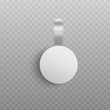 Custom advertising wobbler mockup in realistic style.