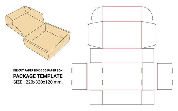 die line box & mock up box