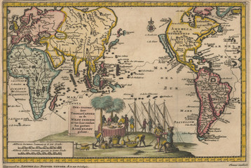 Wall Mural - Pacific 1707 map