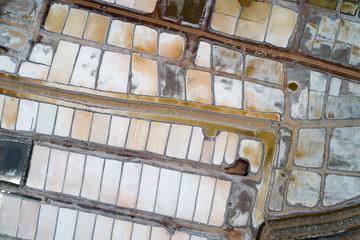 Aerial view salt farm at Udonthani Thailand