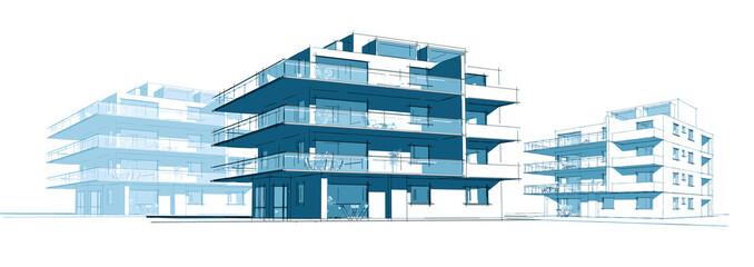 Projet d'immeuble en construction
