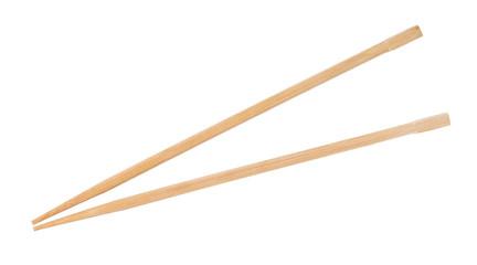 disposable beech wooden chopsticks isolated