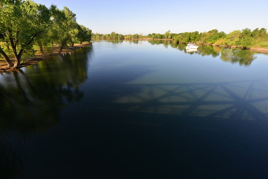 Discovery Park in  Sacramento in late spring.