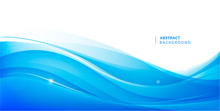 Abstract vector blue wavy background. Graphic design template for brochure, website, mobile app, leaflet. Water, stream abstract