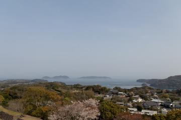 名護屋城からの景色
