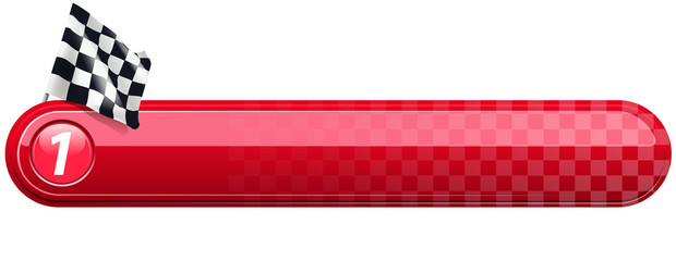 checkered racing banner