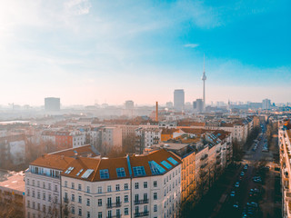 overview of berlin skyline with tv-tower in the background
