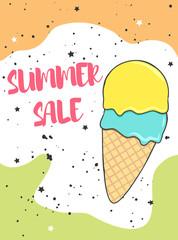 Fotorolgordijn Retro sign summer sale poster