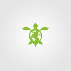 Turtle Logo Design Illustration Template