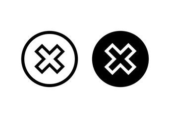 Close vector icon. Delete icon. remove, cancel, exit symbol Wall mural