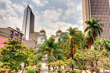 Wall Mural - Central square in Medellin, Colombia