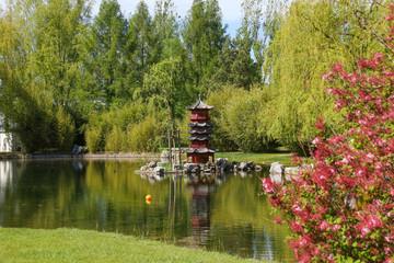 Gardens of the World Berlin - Chinese Garden in Spring