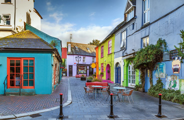 Street in Kinsale, Ireland Wall mural