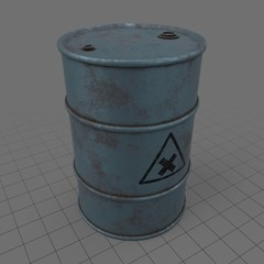 Rustic fuel barrel