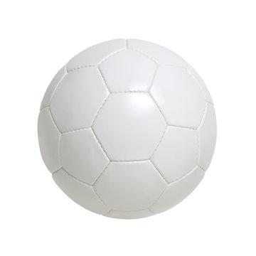 Leather white football.