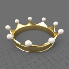 Gold crown with pearls