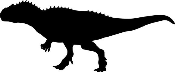 Allosaurus 9 isolated vector silhouette