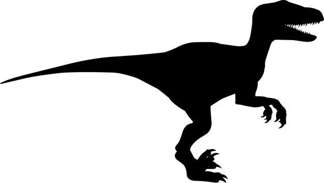 Velociraptor 2 isolated vector silhouette