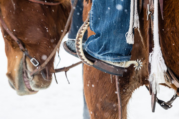 Skijoring at the Steamboat Springs Winter Carnival