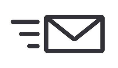 Obraz Sending mail message letter icon line art vector illustration - fototapety do salonu