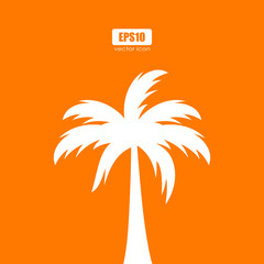 Palm tree silhouette vector poster