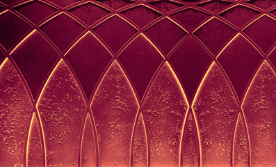 Abstract elegant art deco geometric ornamented red textured background