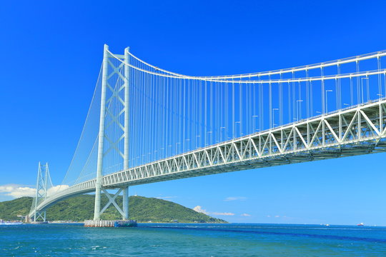 日本・明石海峡大橋 橋, 交通, 建築