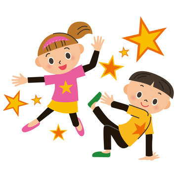 ダンスをする子供達