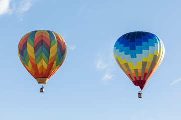 Printed roller blinds Balloon colorful hot air balloon in the sky