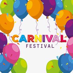 festival balloons decoration to carnival celebration