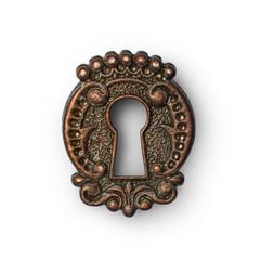 Vintage keyhole as decorative design element