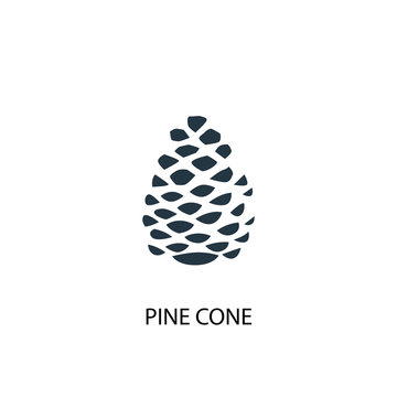 pinecone creative icon. Simple element illustration. pinecone concept symbol design from Autumn collection. Can be used for web and mobile.