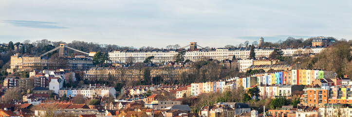 Panoramic view of Cliftom area of Bristol, England, United Kingdom Fototapete