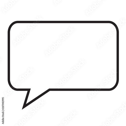 speech bubble icon on white background  flat style  speech